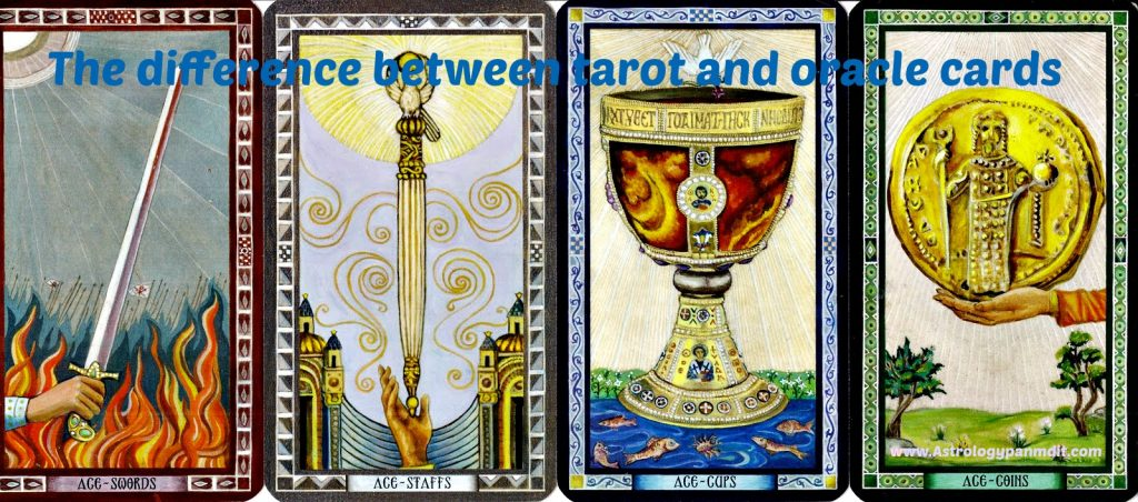 The difference between tarot and oracle cards