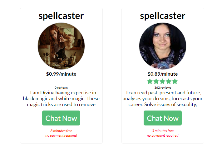 Love spells online service by group of psychic readers worldwide