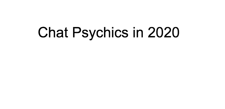 Chat Psychics in 2020