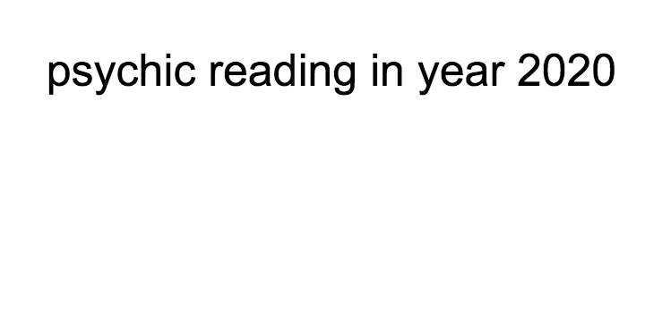 psychic reading in 2020