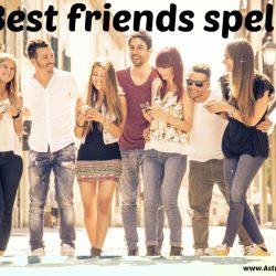 Best friends spell:Best friends spell services for best friend online